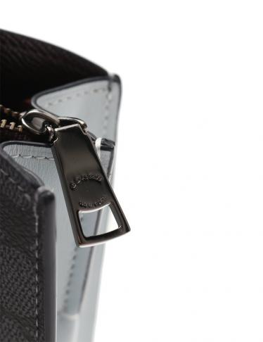 COACH・バッグ・チャーリー キャリーオール28 ハンドバッグ PVC レザー グレー ライトグレー ローズプリント