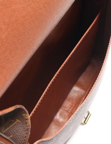 LOUIS VUITTON・バッグ・カルトシエールGM モノグラム ショルダーバッグ PVC レザー 茶