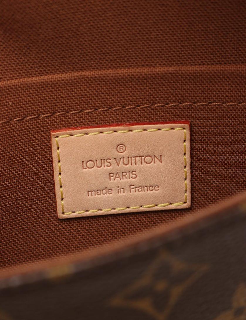 LOUIS VUITTON・バッグ・ポシェット マレル モノグラム ウエストポーチ PVC レザー 茶