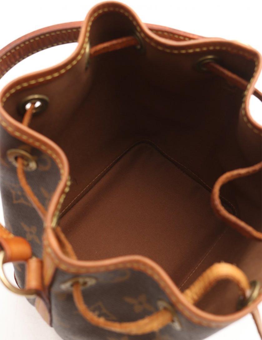 LOUIS VUITTON・バッグ・ミニノエ モノグラム ハンドバッグ PVC レザー 茶