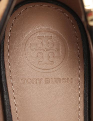 TORY BURCH・シューズ・ELIZABETH CALF HAIR FLAT フラットシューズ レオパード柄 ハラコ ベージュ 黒