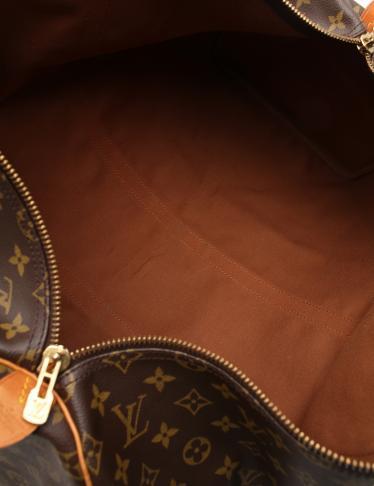 LOUIS VUITTON・バッグ・キーポル55 モノグラム ボストンバッグ PVC レザー 茶