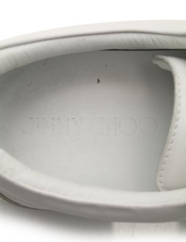 JIMMY CHOO・シューズ・CASH 45 スニーカー レザー 白 シルバー