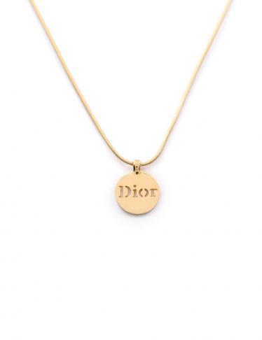 Christian Dior・アクセサリー・ ネックレス ゴールド ロゴ