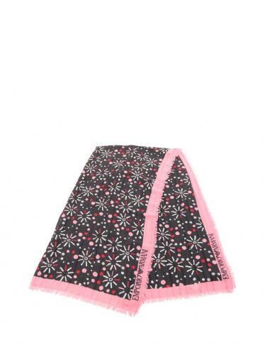 EMPORIO ARMANI・財布・小物・ ストール ショール 黒 ピンク 18AW