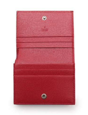 GUCCI・財布・小物・ブルームスライン カードケース フラワー PVC レザー 赤 ピンク マルチカラー