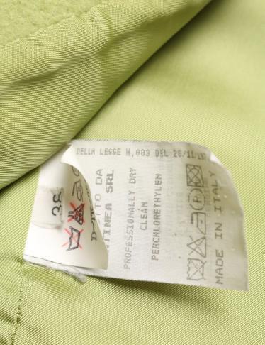 EMPORIO ARMANI・アウター・ ダブルブレストジャケット 黄緑 コサージュ付
