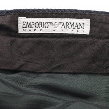 EMPORIO ARMANI・ボトムス・スラックス パンツ ウール ネイビー