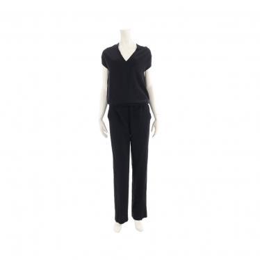 Maison Margiela 4・スーツ・ オールインワン サロペット シルク レーヨン ウール 黒