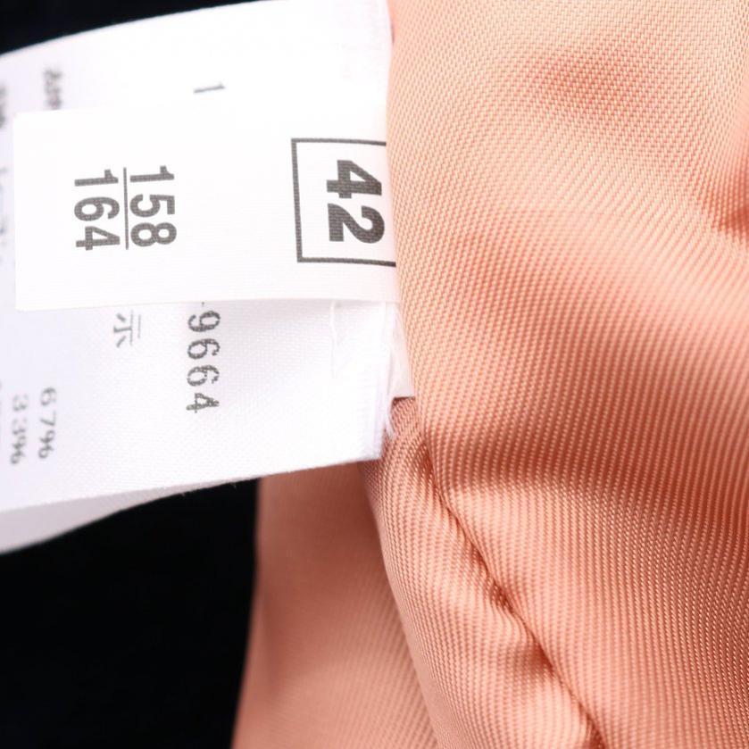 N°21・アウター・ ボンバージャケット フェイクレザー 白 ネイビー リボン