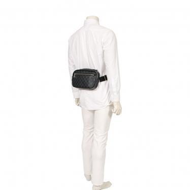 LOUIS VUITTON・バッグ・アンブレール ダミエグラフィット ウェストバッグ ボディバッグ PVC レザー 黒