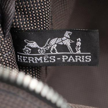 HERMES・バッグ・エールラインMM トートバッグ ナイロンキャンバス グレー