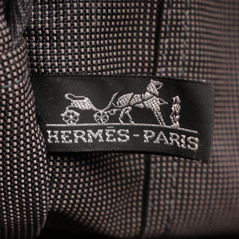 HERMES・バッグ・エールラインMM トートバッグ ナイロンキャンバス ダークグレー