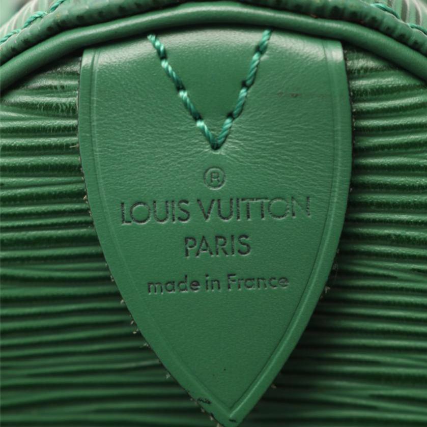 LOUIS VUITTON・バッグ・スピーディ30 エピ ハンドバッグ レザー ボルネオグリーン
