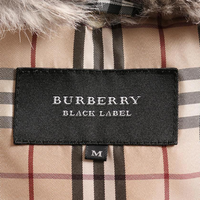 BURBERRY BLACK LABEL・アウター・ダウンジャケット ベージュ ファー付き
