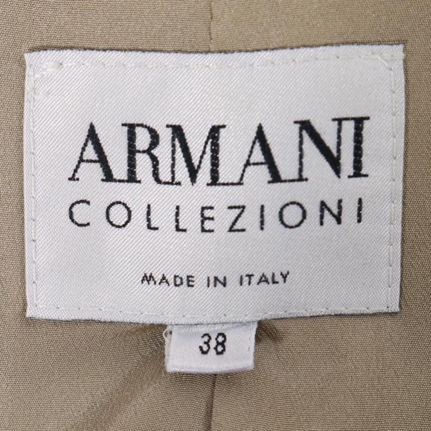 Armani Collezioni・アウター・ ジャケット チェック ウール グレーベージュ 黒