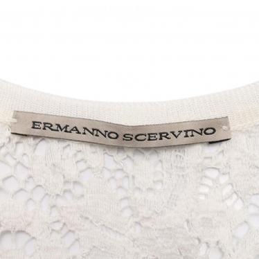 ERMANNO SCERVINO・トップス・ノースリーブブラウス レース 白