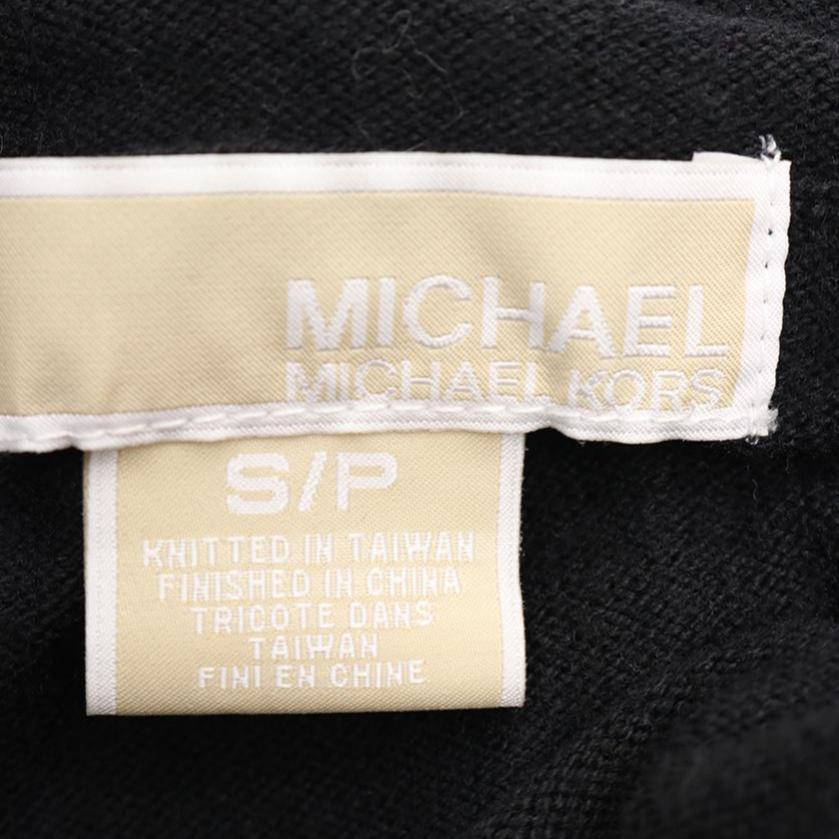 MICHAEL MICHAEL KORS・トップス・プルオーバー ニット ハイネック 黒 ロゴ金具