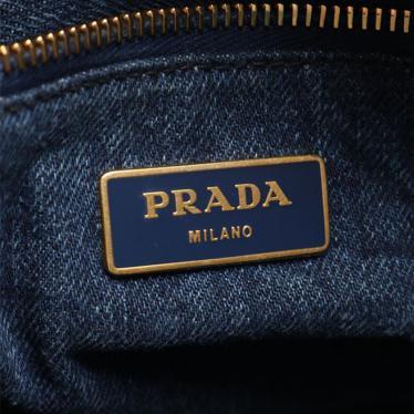 PRADA・バッグ・CANAPA カナパ トートバッグ デニム ネイビー