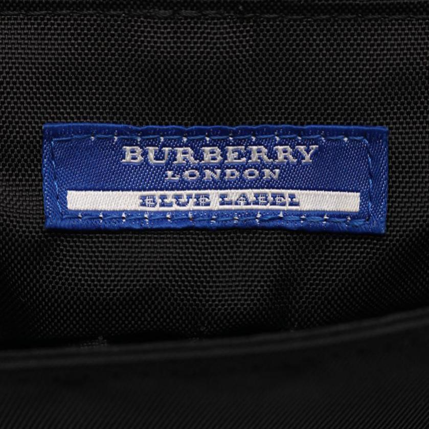 BURBERRY BLUE LABEL・バッグ・ ショルダーバッグ ナイロンキャンバス レザー 黒 ベージュ 赤
