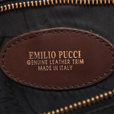 EMILIO PUCCI・バッグ・ トートバッグ ナイロン レザー ピンク ベージュ マルチカラー