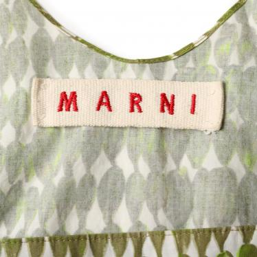 MARNI・トップス・ カットソー 総柄 白 カーキ