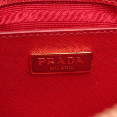 PRADA・バッグ・SAFFIANO LUX ハンドバッグ サフィアーノレザー 赤 2WAY