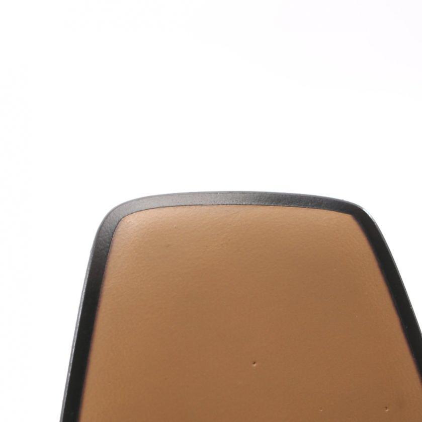 GUCCI・シューズ・レザー ミッドヒール ローファー スニーカー レザー 黒 フェイクパール