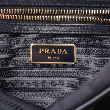 PRADA・バッグ・TESSUTO+SOFT CALF ショルダーバッグ テスートナイロン レザー ネイビー