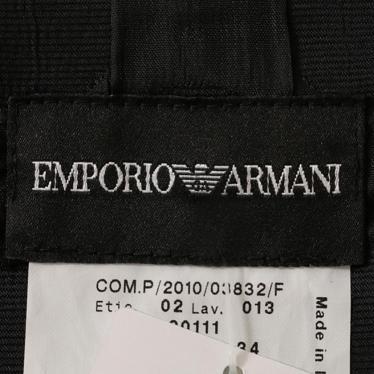 EMPORIO ARMANI・ボトムス・ スカート ドット柄 ナイロン コットン 黒