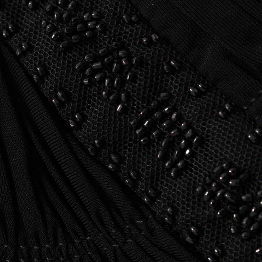 BCBG MAXAZRIA・ワンピース・ワンピース 黒 ビーズ装飾