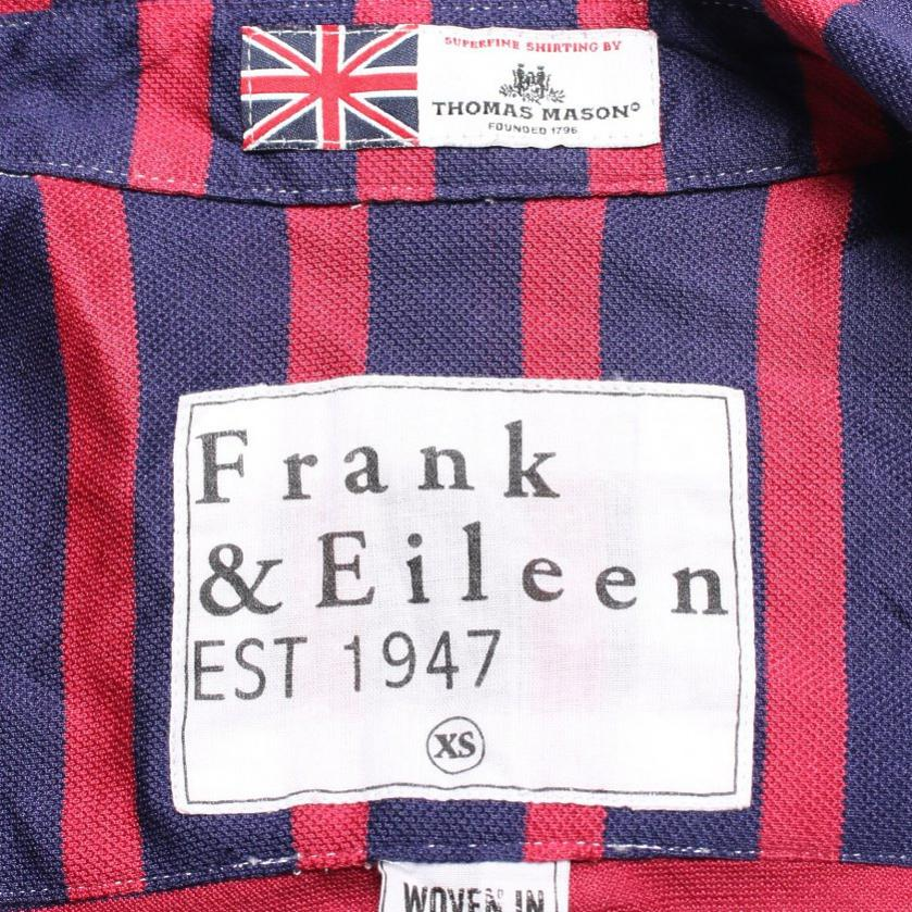 Frank&Eileen・トップス・Frank&Eileen × THOMAS MASON BARRY シャツブラウス ボーダー ネイビー ピンクレッド