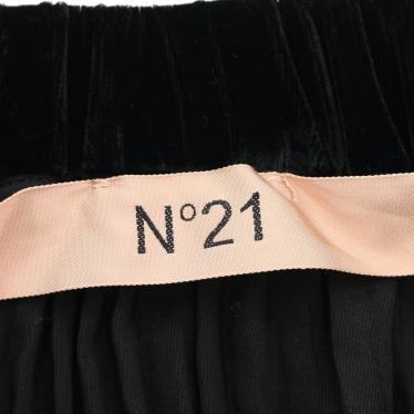 N°21・ボトムス・ スカート レーヨン 黒 ビジュー