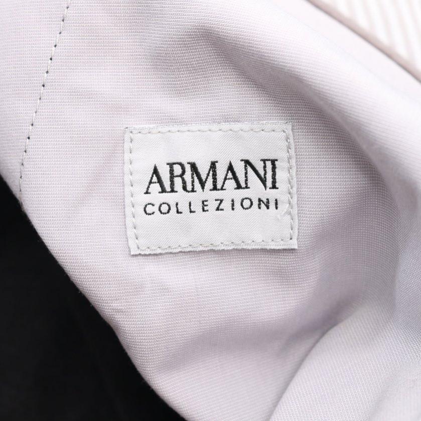 Armani Collezioni・ボトムス・ パンツ 麻 シルク 黒