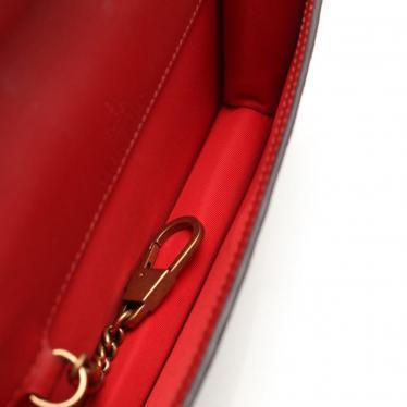 GUCCI・バッグ・GGスプリーム ミニバッグ チェーンショルダーバッグ PVC ベージュ ダークブラウン 赤 チェリー