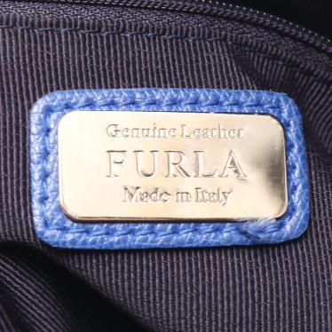 FURLA・バッグ・パイパーM ハンドバッグ レザー 青