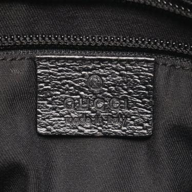 GUCCI・バッグ・GGキャンバス ショルダーバッグ キャンバス レザー 黒 クロスボディ