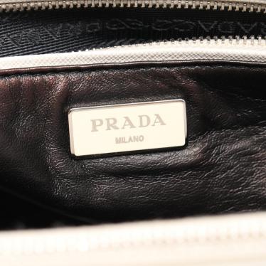 PRADA・バッグ・SAFFIANO LUX ガレリア ハンドバッグ サフィアーノレザー 白 2WAY