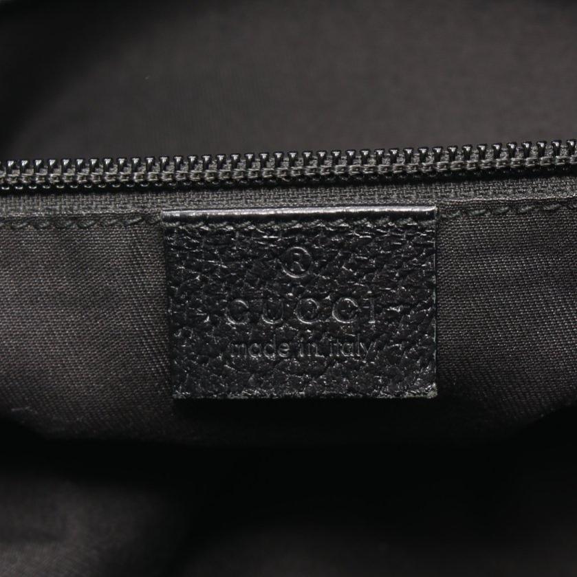 GUCCI・バッグ・GGキャンバス ショルダーバッグ メッセンジャーバッグ キャンバス レザー 黒