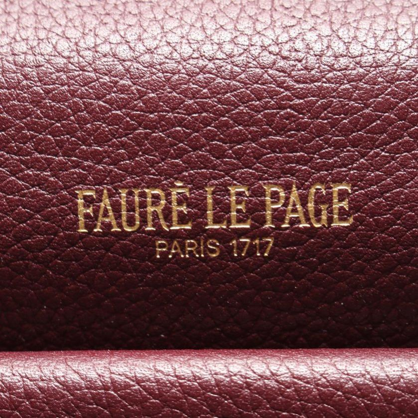 FAURE LE PAGE・バッグ・エカイユ柄 ハンドバッグ PVC レザー ボルドー 2WAY