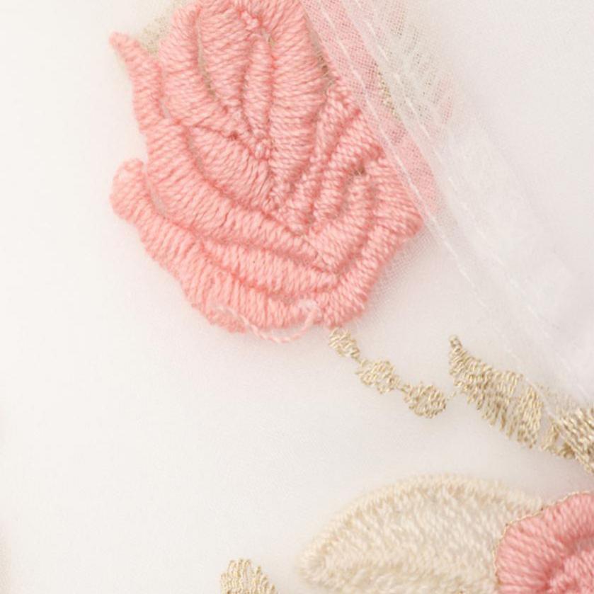 Blugirl・トップス・ ブラウス 刺繍 白 ピンク ゴールド シースルー