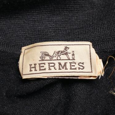 HERMES・トップス・ カットソー シルク 麻 ダークグレー