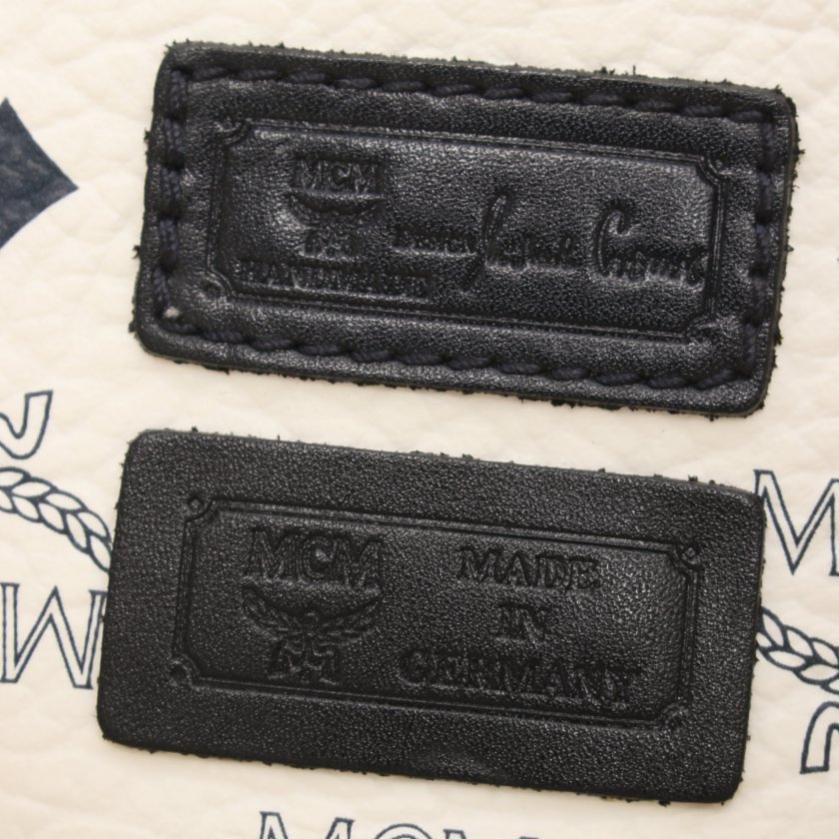 MCM・バッグ・ヴィセトス トートバッグ PVC 白 黒