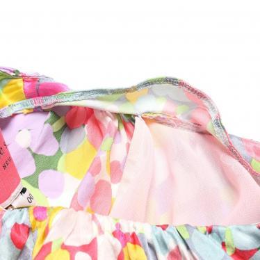 kate spade・ワンピース・FLORAL DOTS SILK DRESS ワンピース 花柄 シルク ピンク 白 黄 マルチカラー 19SS