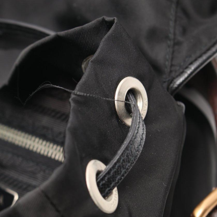 PRADA・バッグ・ ワンショルダーバッグ ナイロン レザー 黒 茶色