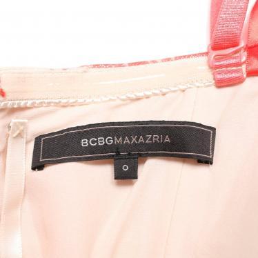 BCBG MAXAZRIA・ワンピース・ERIKA ドレス ワンピース 総柄 白 ピンク