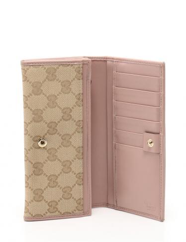 13126d2d48ae HOME · GUCCI グッチ · 財布・小物 · 財布; 長財布 ピンク ベージュ アウトレット品. マウスを合わせると画像を拡大できます