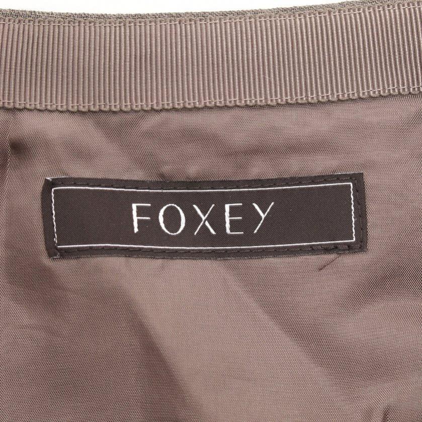 FOXEY・ボトムス・スカート ウール グレーブラウン