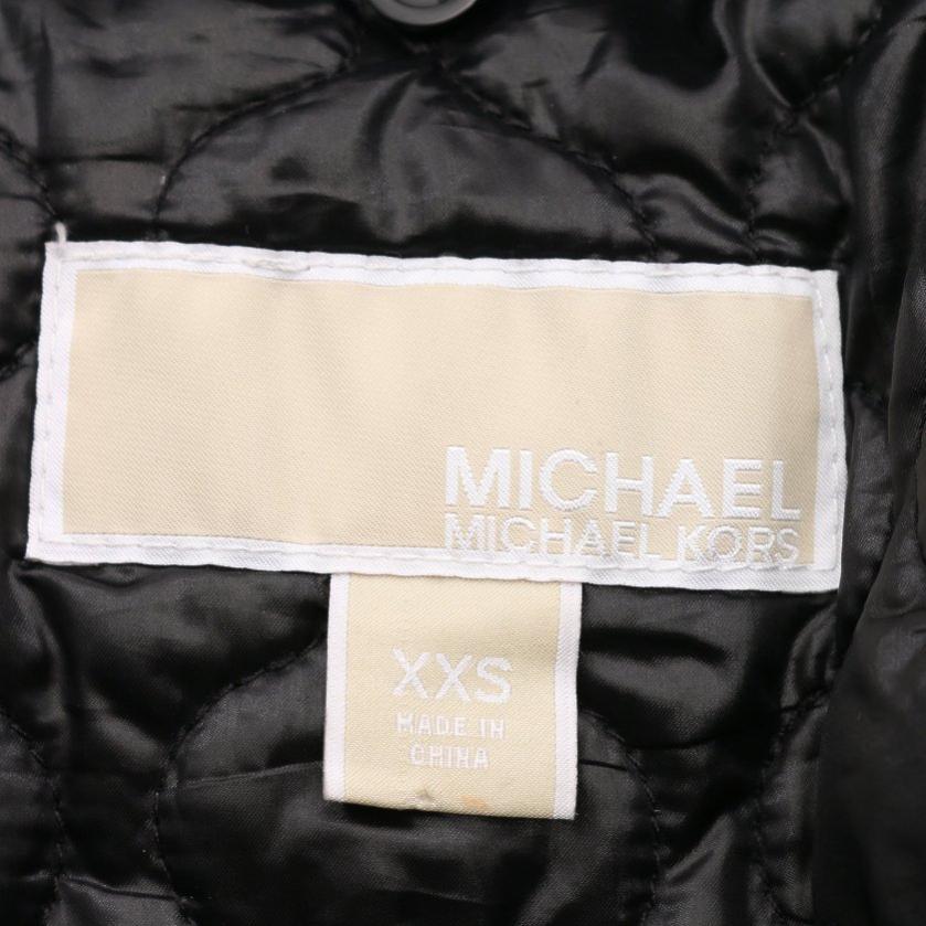 MICHAEL MICHAEL KORS・アウター・ ダウンジャケット ダークグレー 黒 襟ファー付き リブ