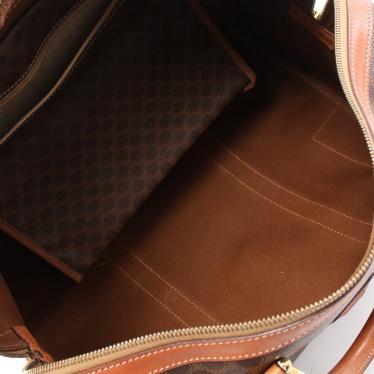 CELINE・バッグ・マカダム ボストンバッグ PVC レザー ダークブラウン 茶色